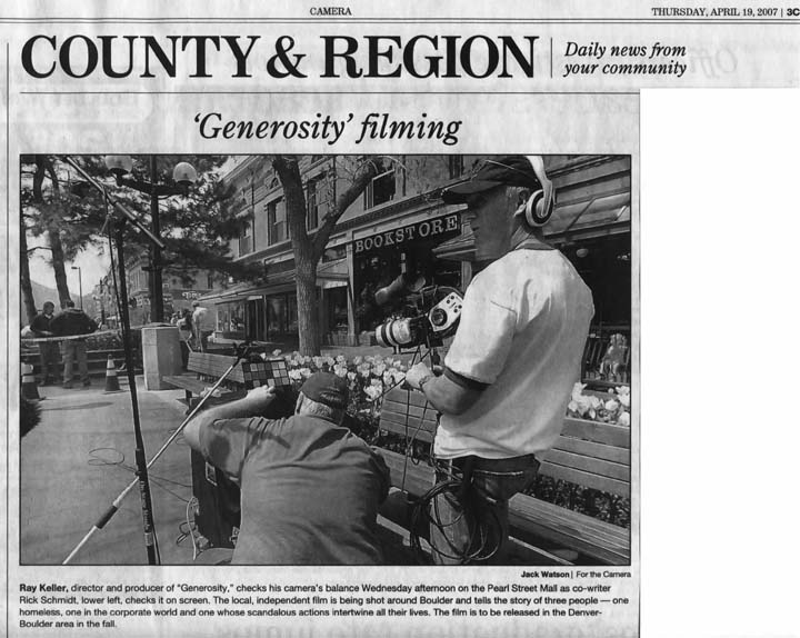 April 19, 2007 - Boulder Daily Camera Article