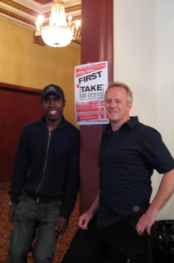 Festival director Gregory Glover and Ray Keller at the First Take Film Festival